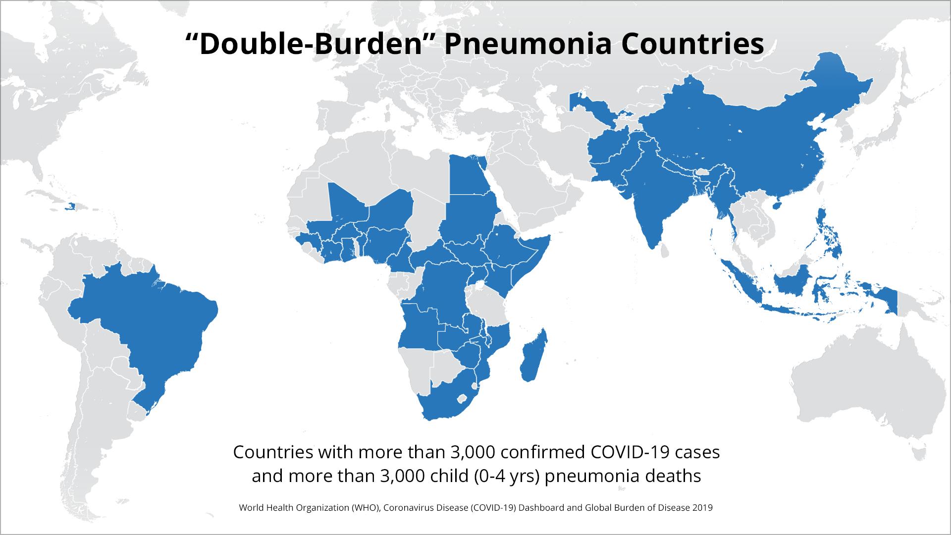 Double-Burden Pneumonia Countiries